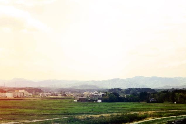 両竹:諏訪神社からヘルスケアーふたば方向の景色